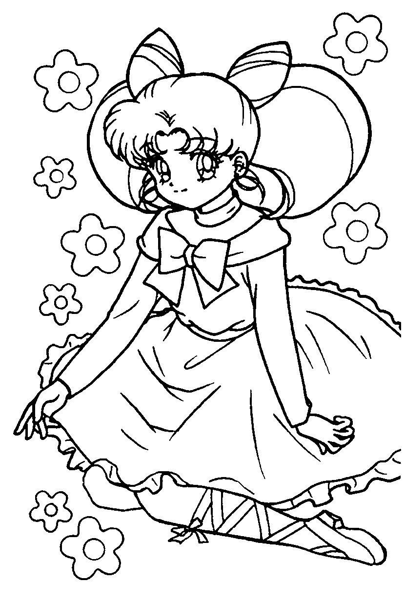 Chibiusa Coloring Page Sailormoon Sailor Moon Coloring Pages Chibi Coloring Pages Coloring Pages