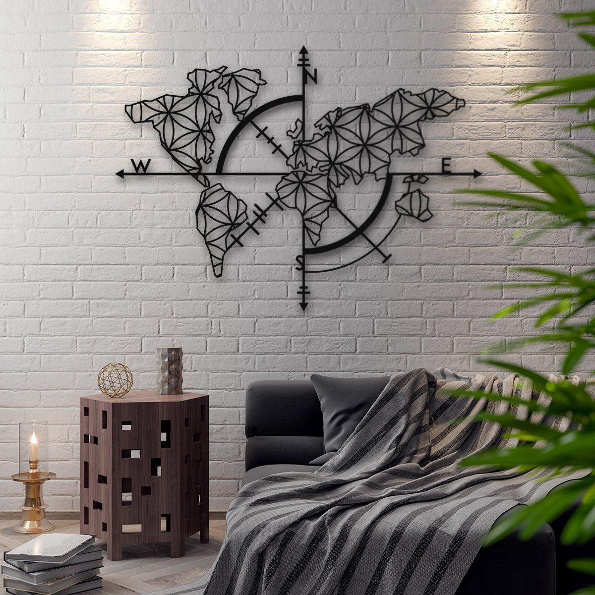 Map Of Life Metal World Living Room In 2019