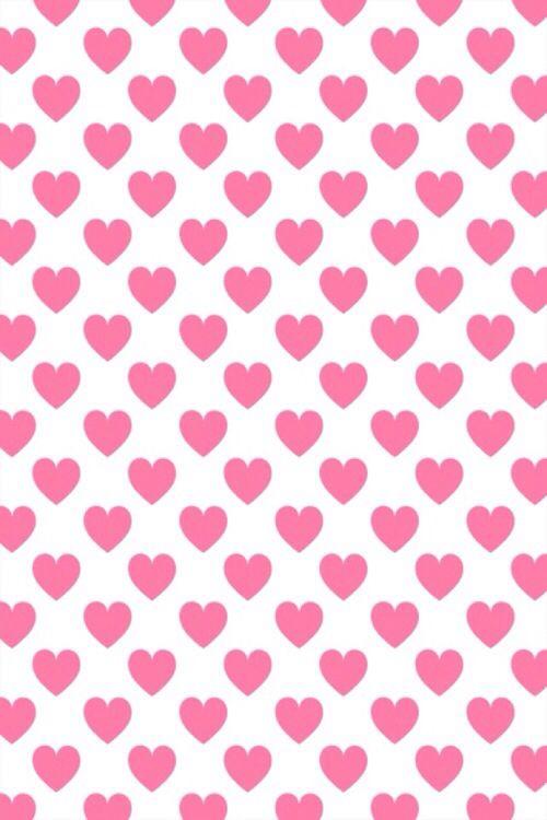 Pink Heart Iphone Wallpaper