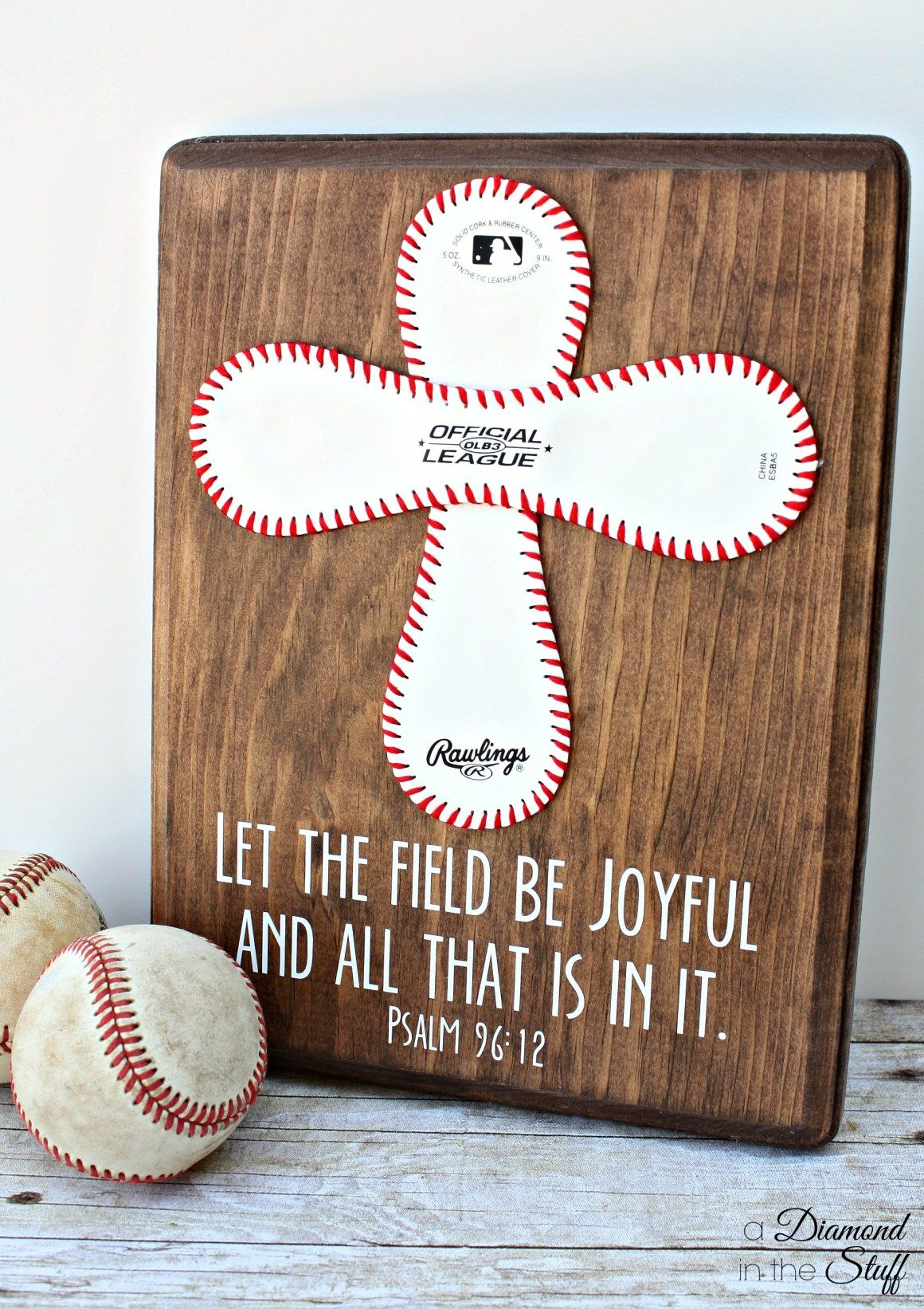 Baseball cross coach gift a diamond in the stuff