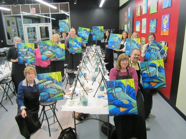 Wine and canvas bloomington indiana