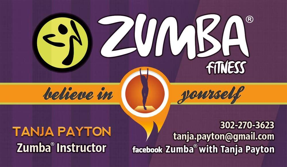Zumba Business card design by CIRJ Concepts | Our Designs ...