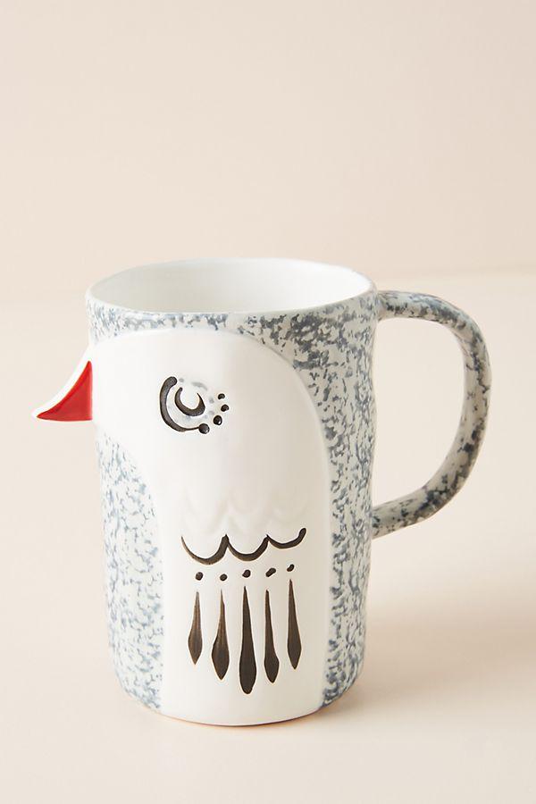 Handpainted Bird Mug in 2020 Anthropologie mugs, Mugs
