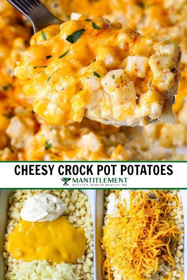 Cheesy Crock Pot Potatoes | An Easy Potato Side Dish