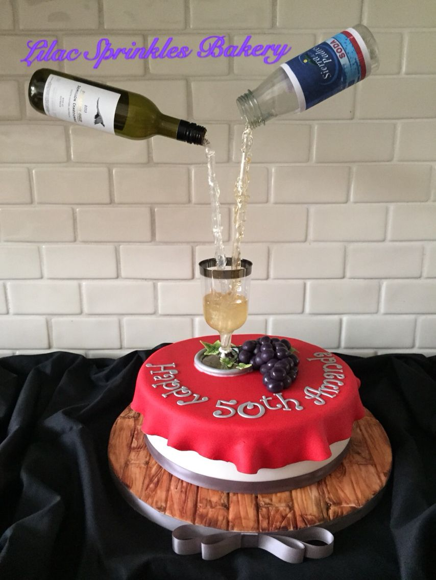 White Wine Spritzer Gravity Cake