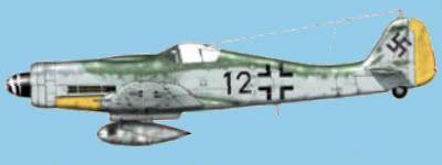 Piloteado por Leutnant Theo Nibel, 10./JG 54, Varrelbusch, Alemania, Enero 1945.