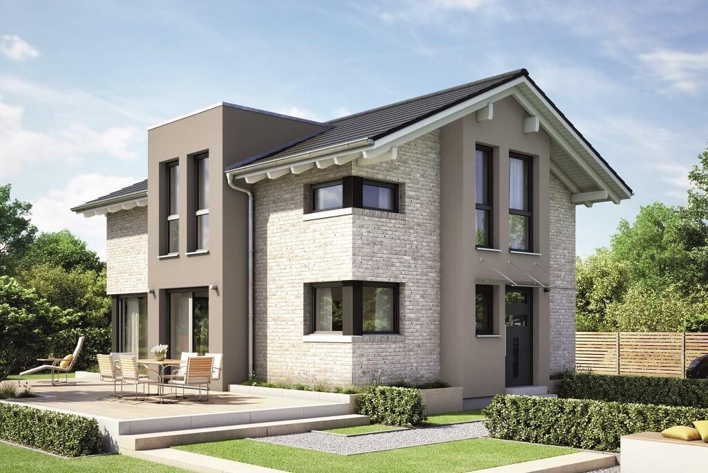 Einfamilienhaus Architektur Mit Klinker Fassade Satteldach Und Querhaus    Haus Bauen Evolution 122 V11 Bien Zenker · Modern InteriorInterior ...