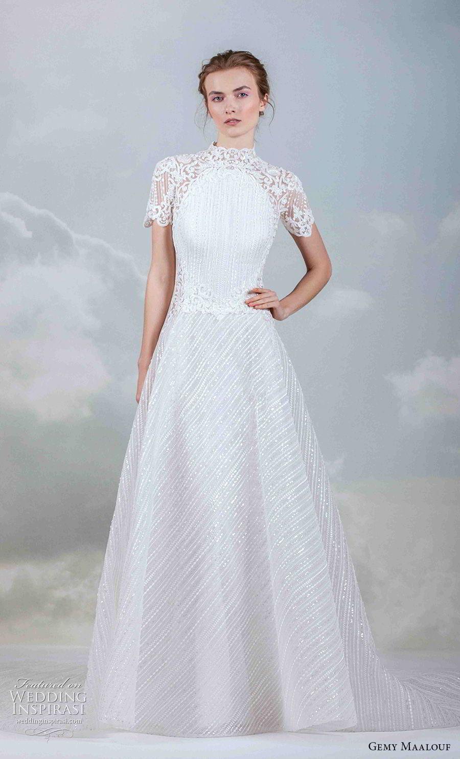 Gemy Maalouf 2019 Wedding Dresses The Royal Bride Bridal Collection Wedding Inspirasi Wedding Dress Necklines Wedding Dresses High Neckline Wedding Dress [ 1485 x 900 Pixel ]