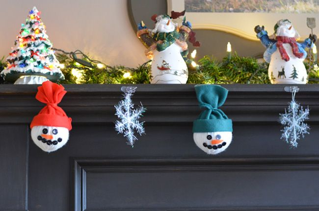Homemade Snowman Decorations Snowman Decorations Crafts For