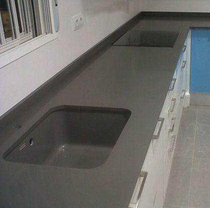 Silestone cemento spa kitchen remodel pinterest - Silestone cemento spa ...