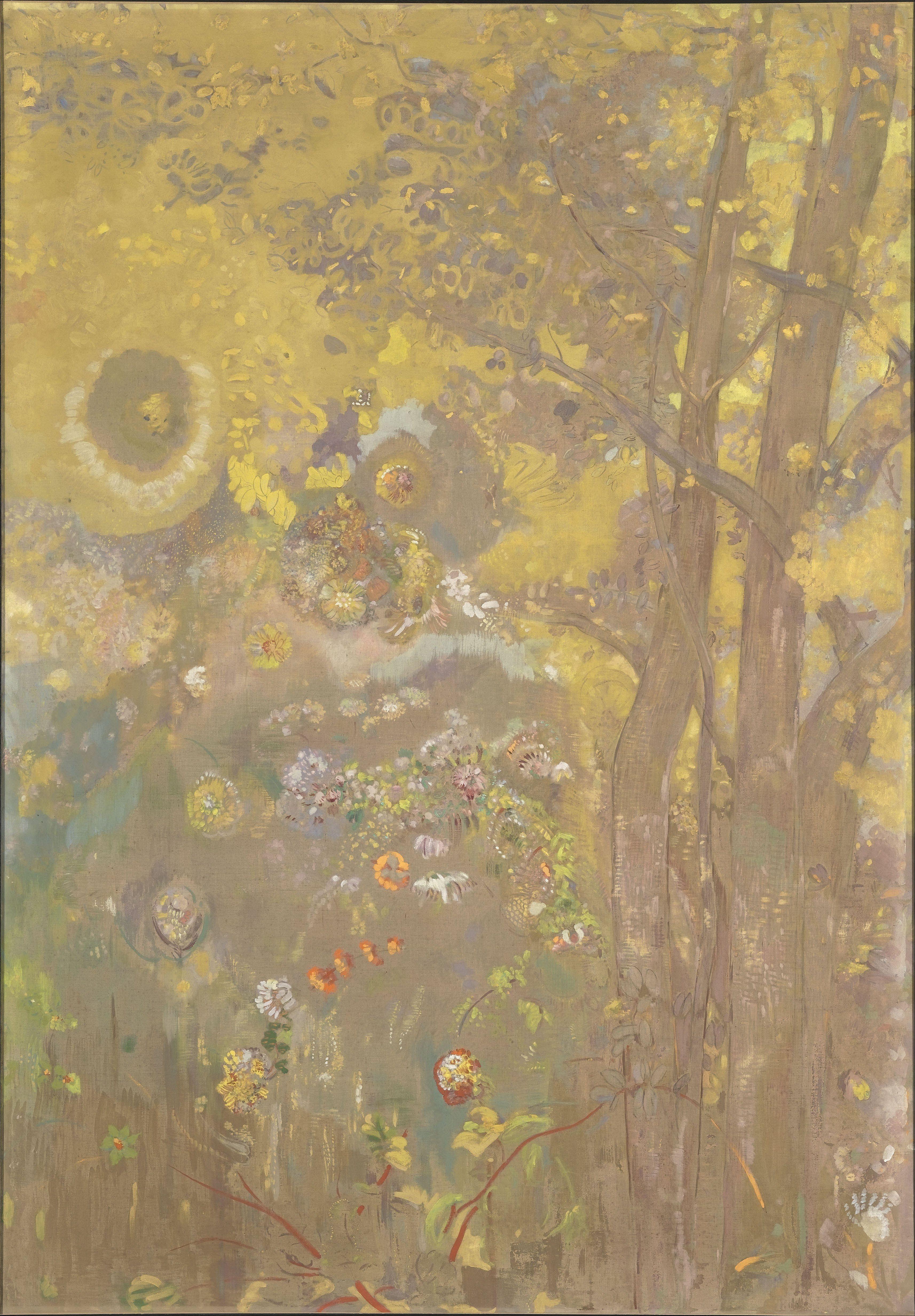 Odilon_Redon_-_Trees_on_a_yellow_Background_-_Google_Art_Project.jpg (3428×4929)