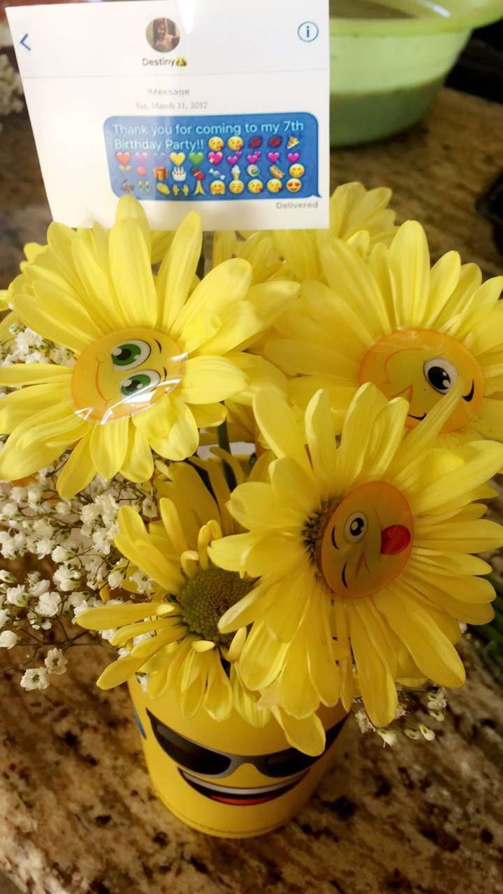 Emoji Party Centerpiece | Emoji Birthday Party | Pinterest | Party ...
