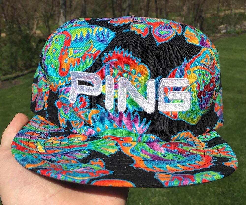 0fe25552 Vintage Ping Golf 1980s/90s Strapback SnapBack Hat Cap Floral All Over  Print Hip #Ping #BaseballCap