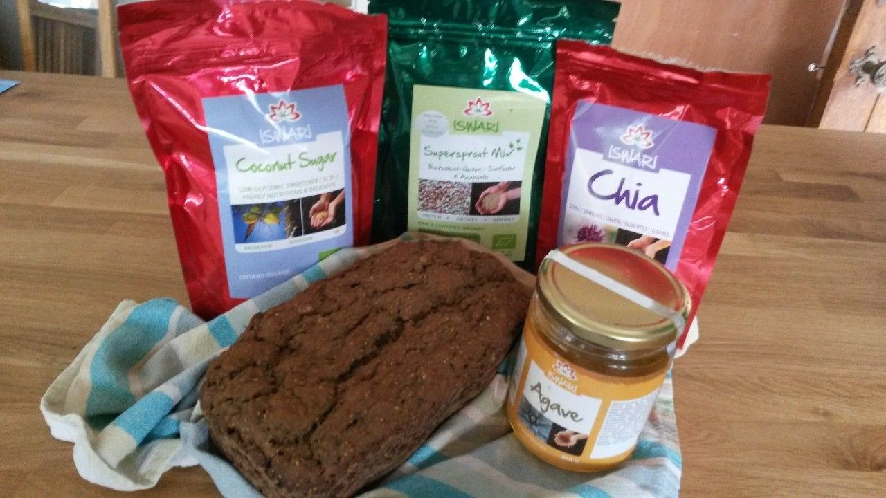 Sprouted Hemp Bread with Sprouted Seed Topping by Ellen