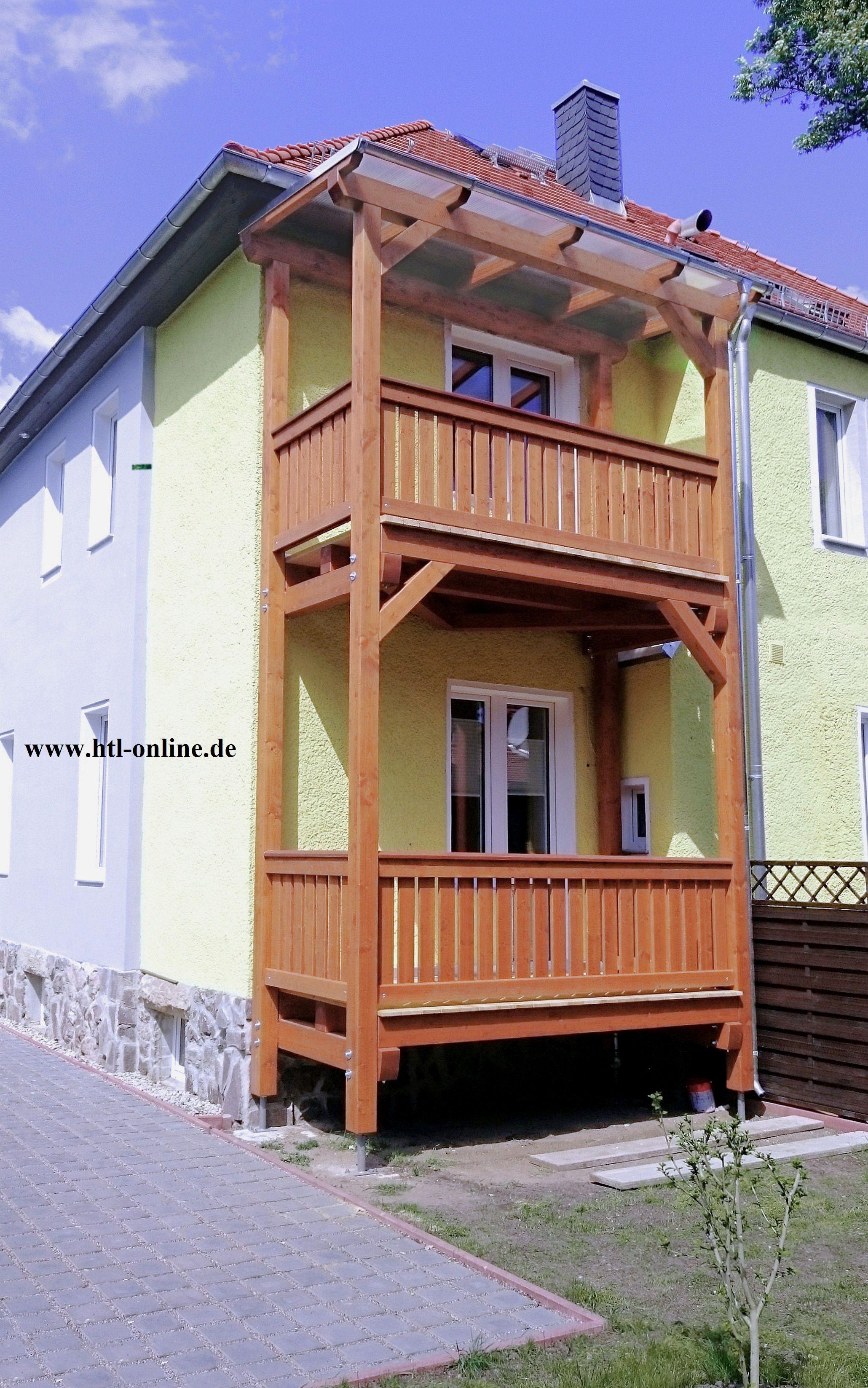 Mehrstockiger Balkon Aus Holz Htl Holztechnik Holz Arbeit Mit
