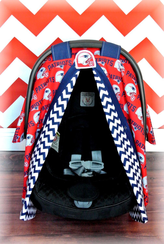 New England PATRIOTS Car Seat Canopy Cover NFL Chevron
