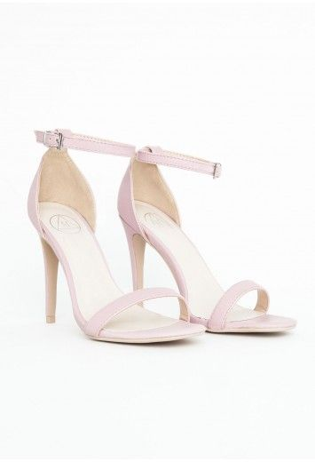 4a30bc3f091 Missguided - Clara Leather Strappy Sandals In Baby Pink | fanci ...