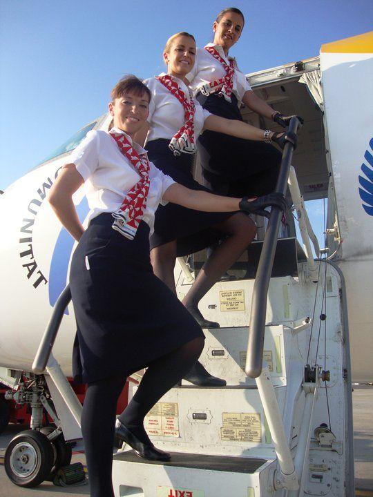 Air nostrum spain flight attendant cabin crew plane for Spa uniform france