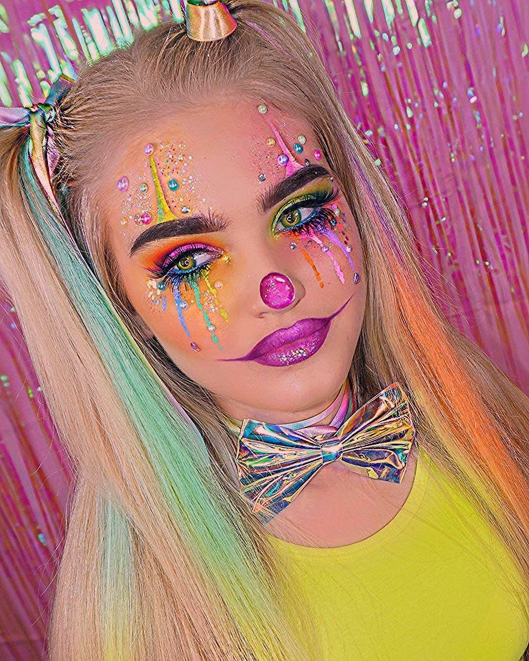 18 Erschreckende Clown-Make-up-Looks, die Halloween-Alpträume bescheren