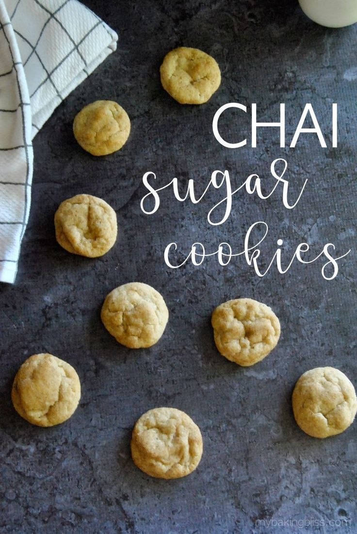 Chai Sugar Cookies  soft and chewy cookies with all the warm comforting flavors of chai These cookies are rolled in a chai spice sugar and taste like the snickerdoodles s...
