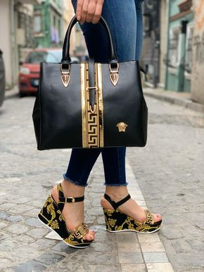 Photo of VERSACE BLACK WEDGE SET – ALIPA TRENDZ