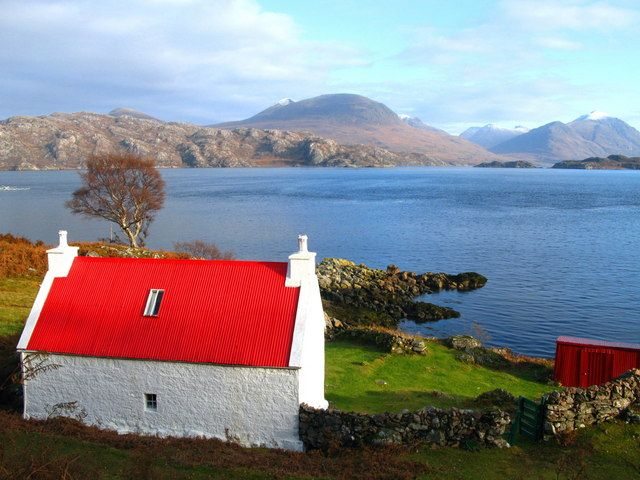The remote and stunning Applecross Peninsula in the north-west Highlands of Scotland.