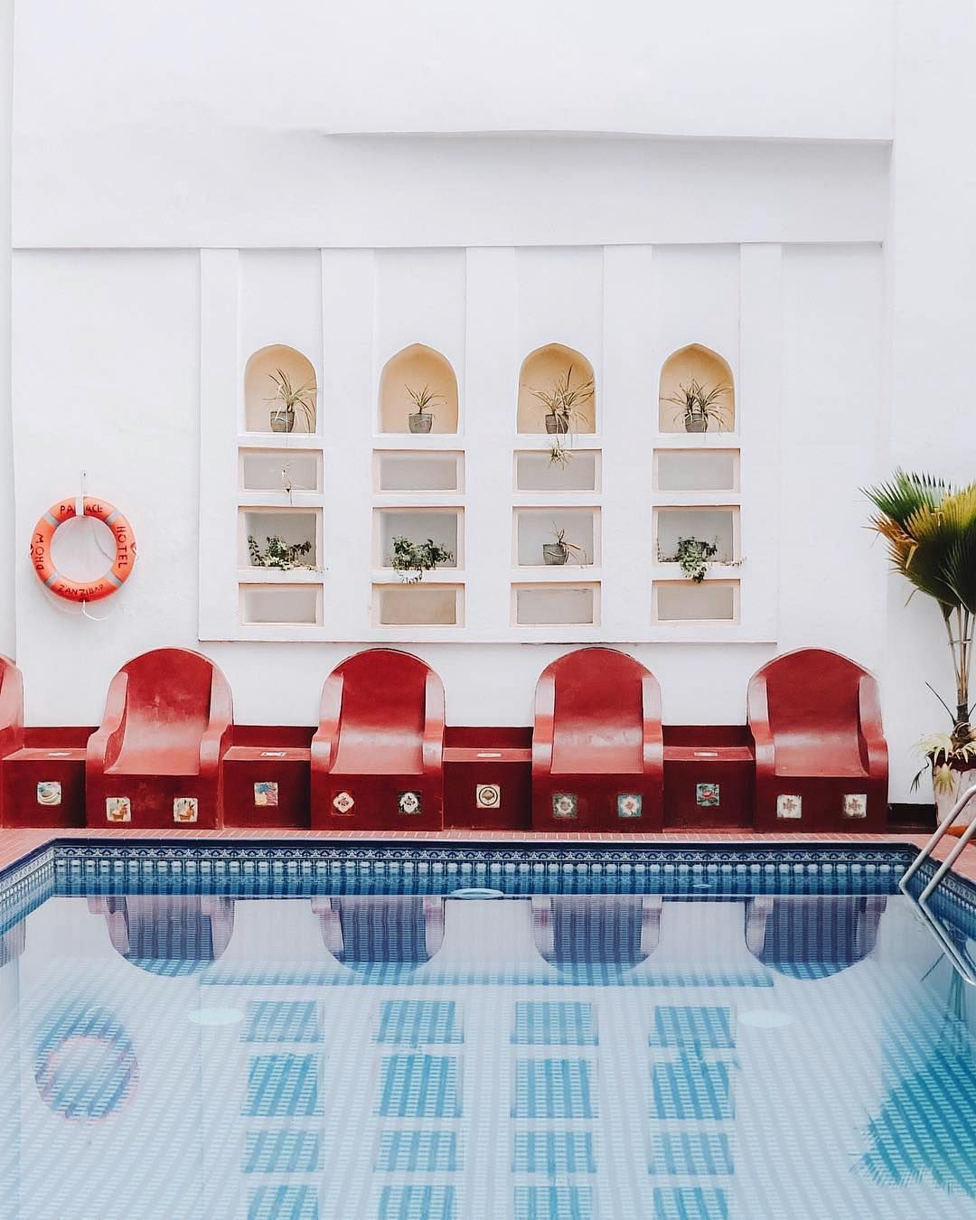 Accidentallywesanderson On Instagram Dhow Palace Zanzibar Tanzania Small Indoor Pool Indoor Pool Design Indoor Swimming Pools