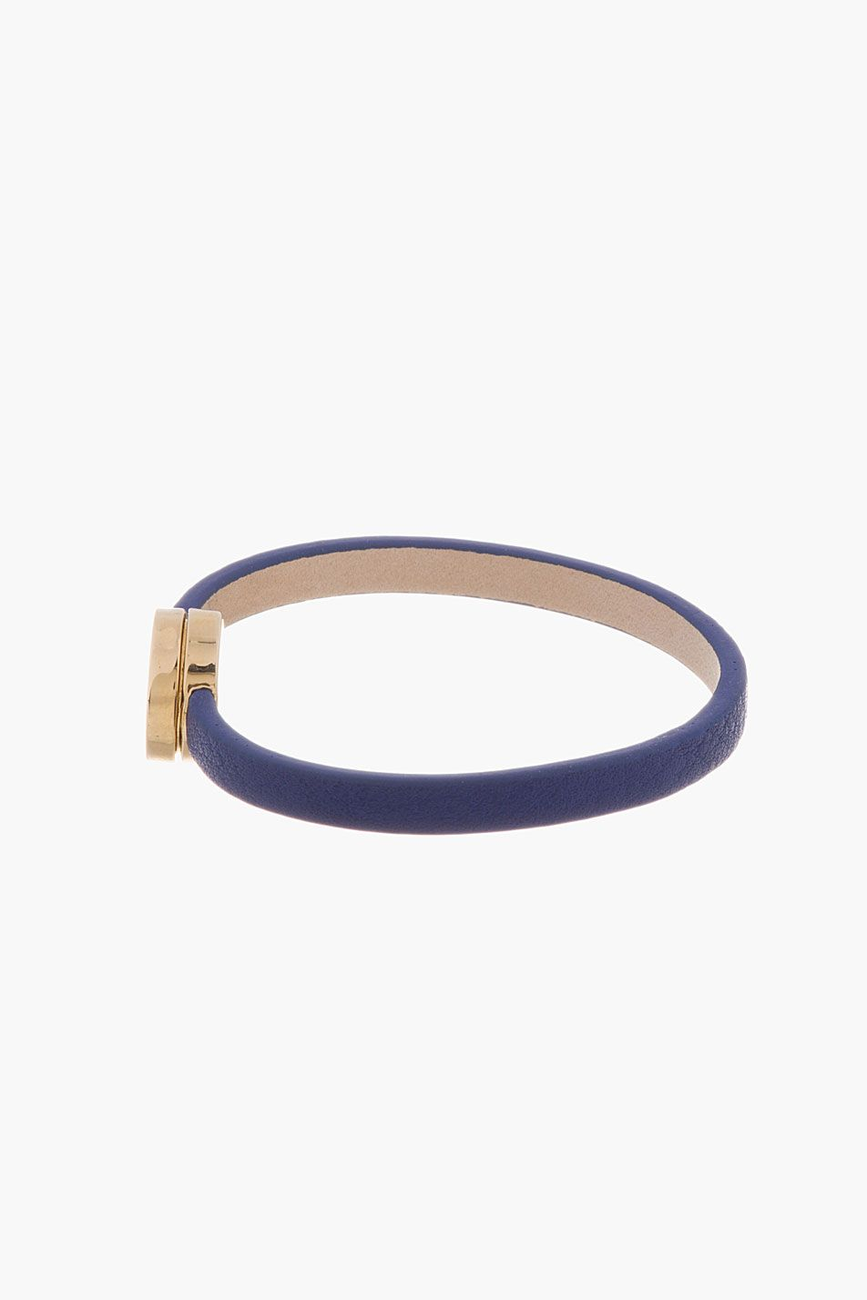 MARC BY MARC JACOBS Blue leather Skinny Turnlock bracelet