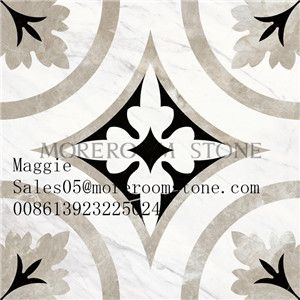 Beautiful Flower Design In Natural Marble With Water Jet Technology, Which Show The Natural Feelin… | Marble Flooring Design, Beautiful Flower Designs, Marble Floor