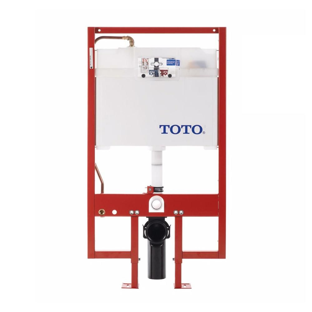 TOTO Wall-Hung 0.9/1.6 GPF Dual Flush Toilet Tank Only with Copper ...