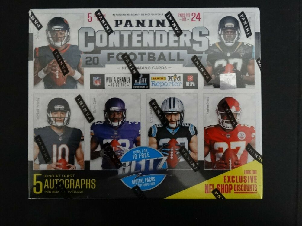 2017 panini contenders football factory sealed 5 autos
