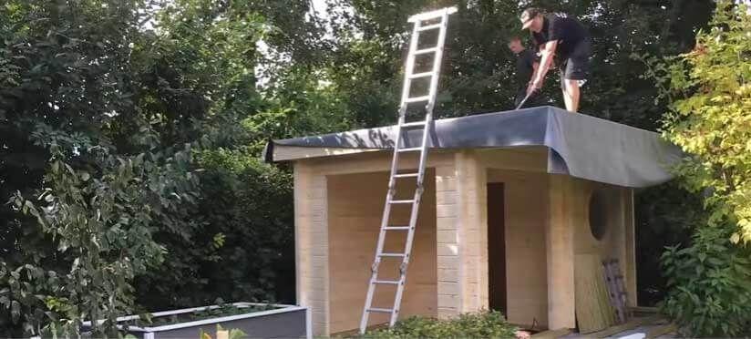 Epdm Dachfolie Fur Gartenhauser In 2021 Gartenhaus Dach Gartenhaus Blechdach Haus