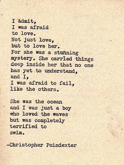 She Was The Ocean And He Was Just A Boy Who Loved The Waves But Was Completely Terrified To Swim Did He Even Know How To Swim Or Would He Drown In Her