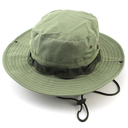Green Burgeon Men Sun Boonie Hats for Outdoor ** Check out the image by visiting the link.