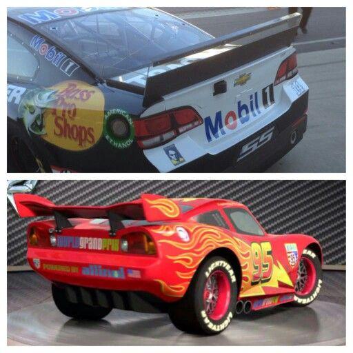 "Tony ""Smoke"" Stewart  & lightning McQueen"