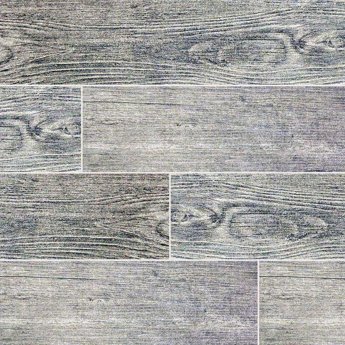 Sonoma Driftwood 6 X 24 Ceramic Wood Look Tile In Gray Bathroom
