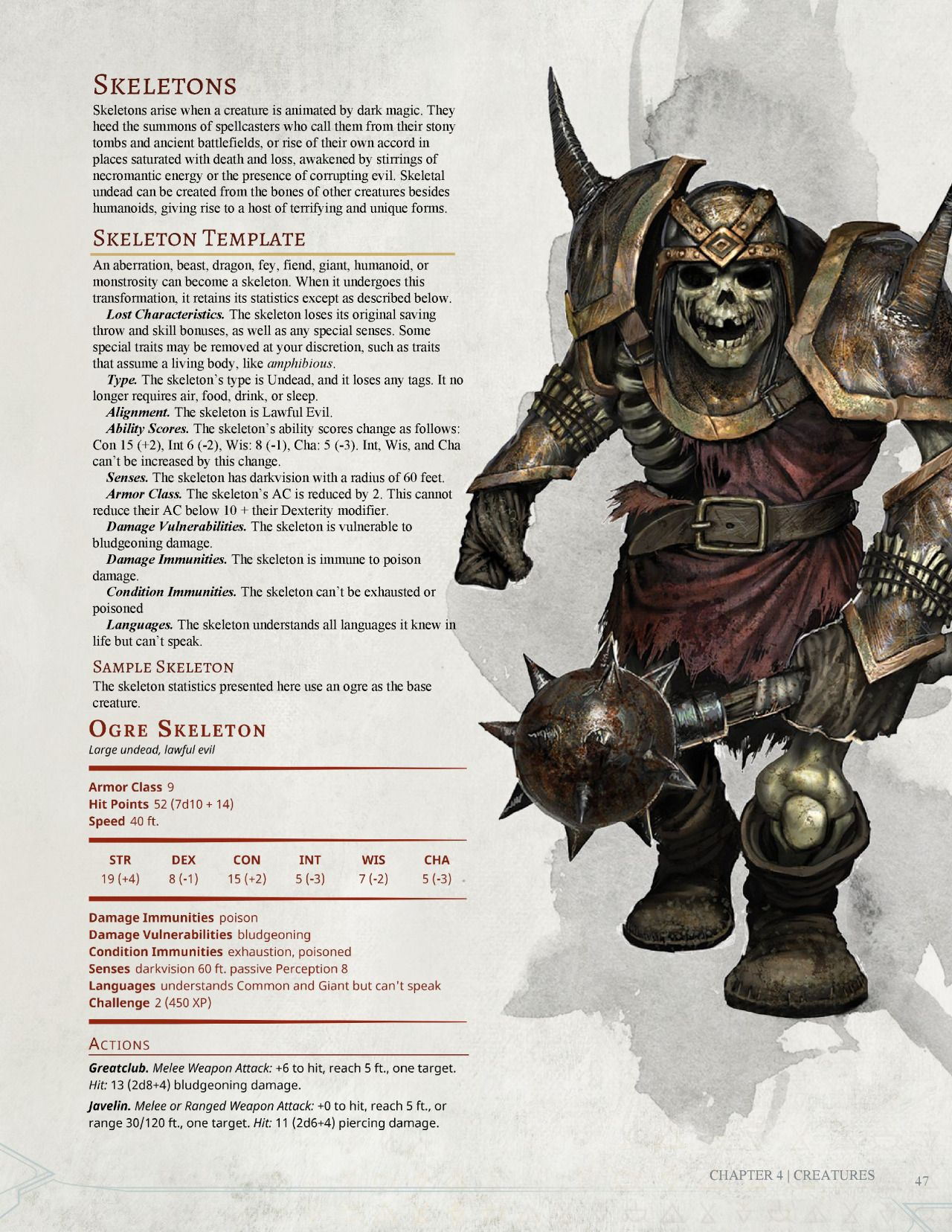 DnD 5e Homebrew — Dark Arts Player's Companion Monsters Part