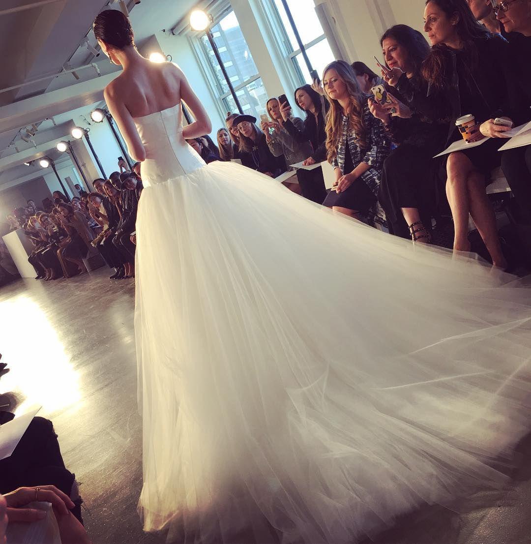 Unique New York Bridal Fashion Week Show fall new collection wedding dress designer bridal gown catwalk