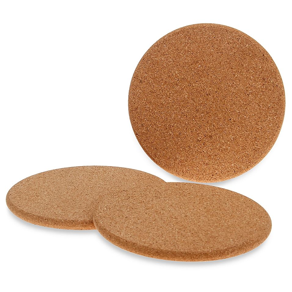 Natural Cork Trivets (Set Of 3) | Cork trivet, Cork ...