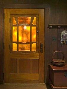 Greene Greene Inspired Bungalow Craftsman Style Doors Glass Bathroom Artist And Craftsman