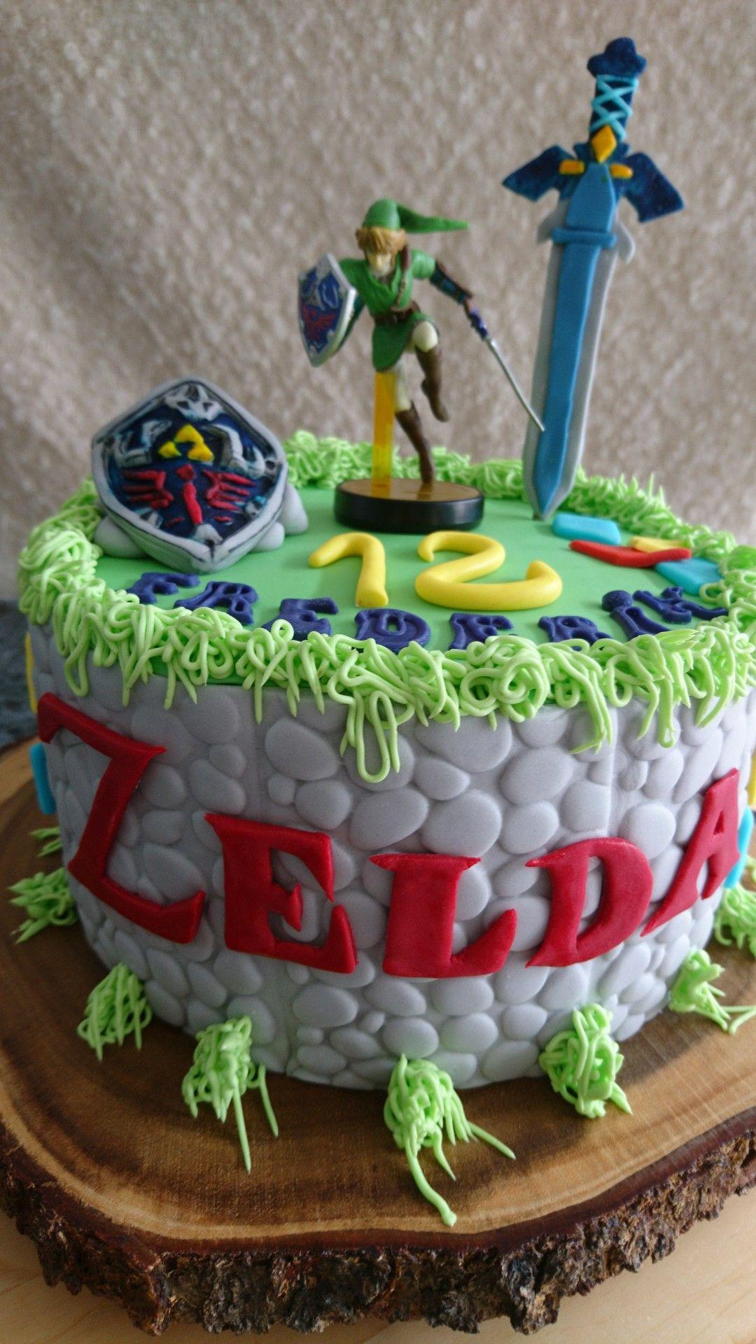 Outstanding Legend Of Zelda Cake Zelda Birthday Zelda Cake Themed Birthday Funny Birthday Cards Online Elaedamsfinfo