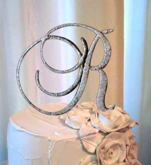 the letter r cake topper style 21