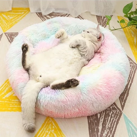 Rainbow Marshmallow Cat Bed Cat bed, Cats, Cat owners