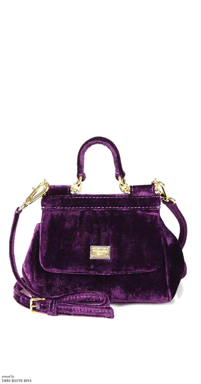 db4289a6d3a0 Dolce   Gabbana Sicily Velvet Mini Satchel bag Koffer