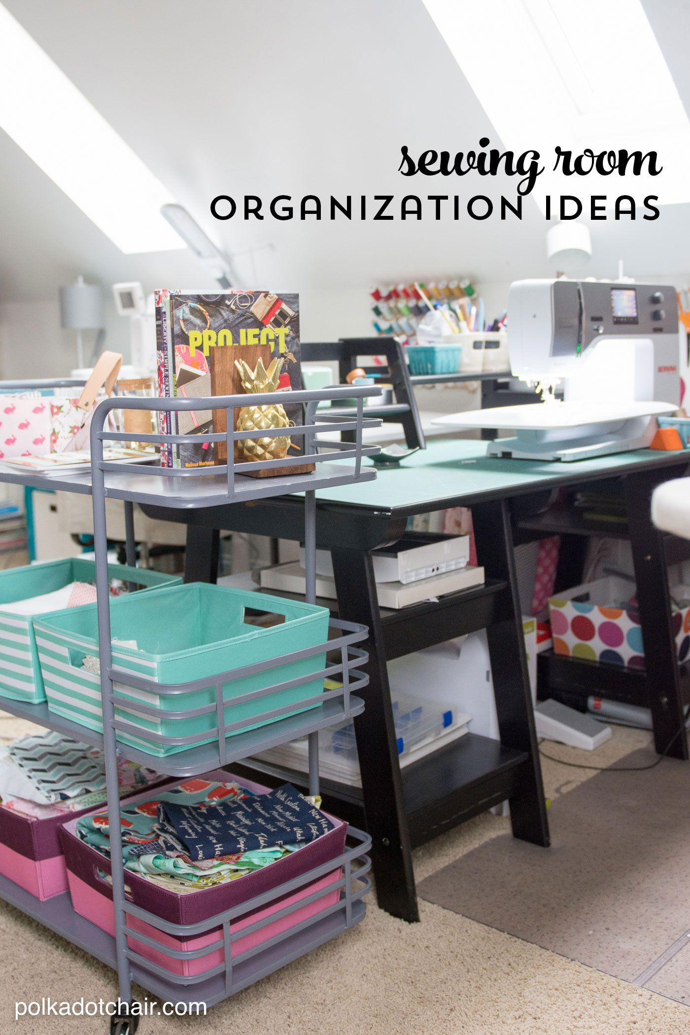 Cute and Clever Sewing Room Organization Ideas