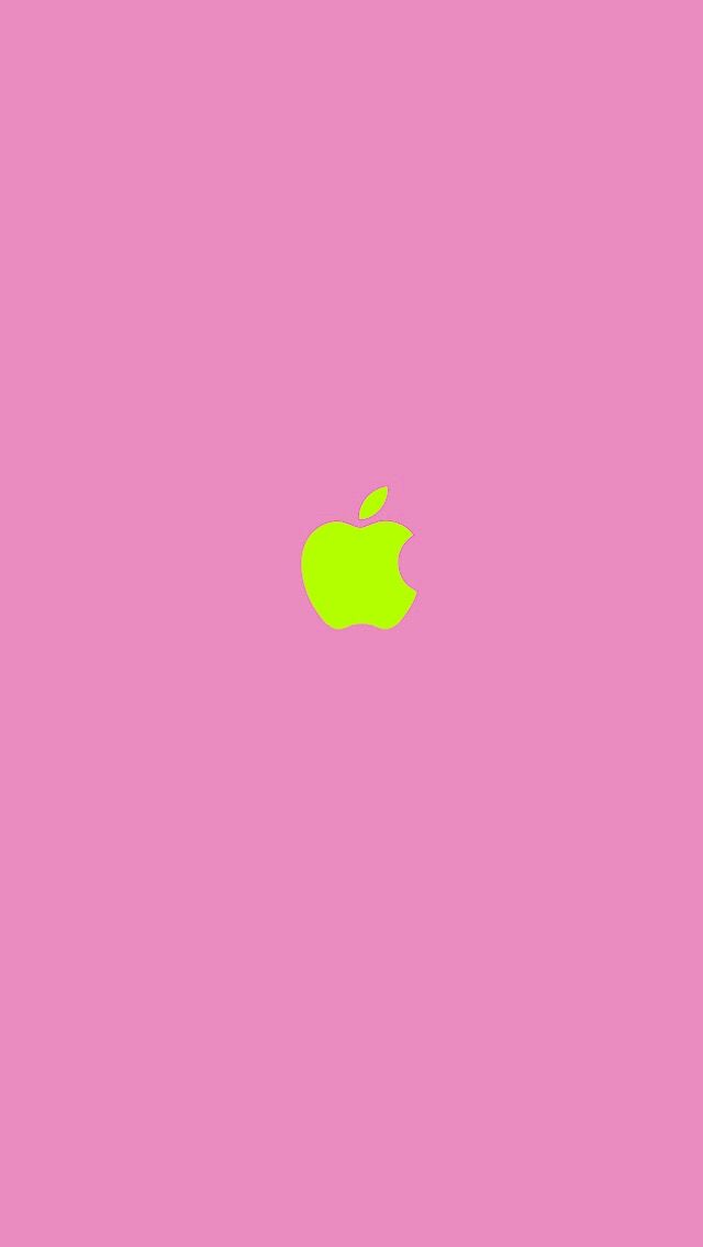 Pink Lime Apple Apple Logo Wallpaper Apple Logo Wallpaper Iphone Apple Iphone Wallpaper Hd