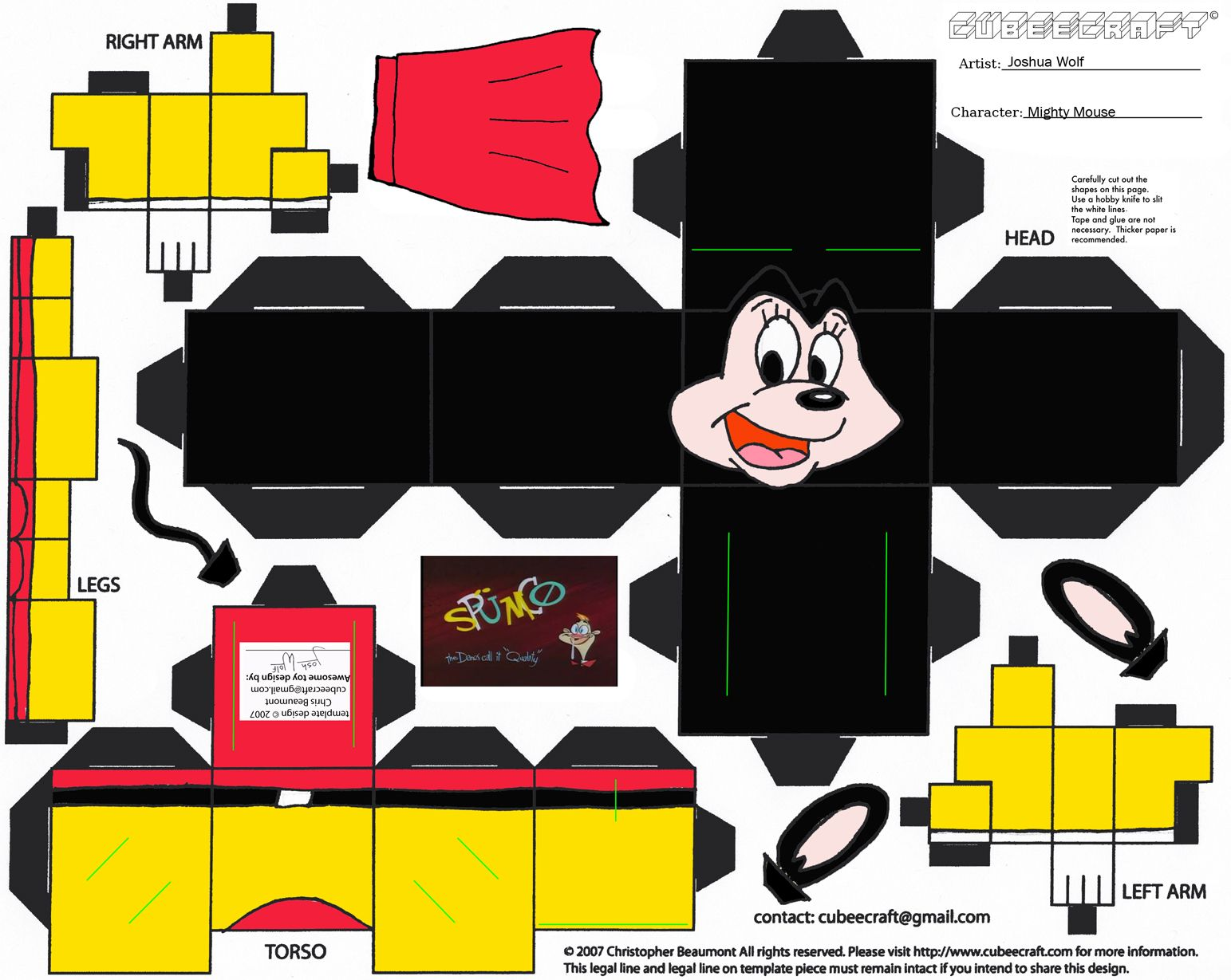 Image Detail For Mighty Mouse Paper Toy Print Paper