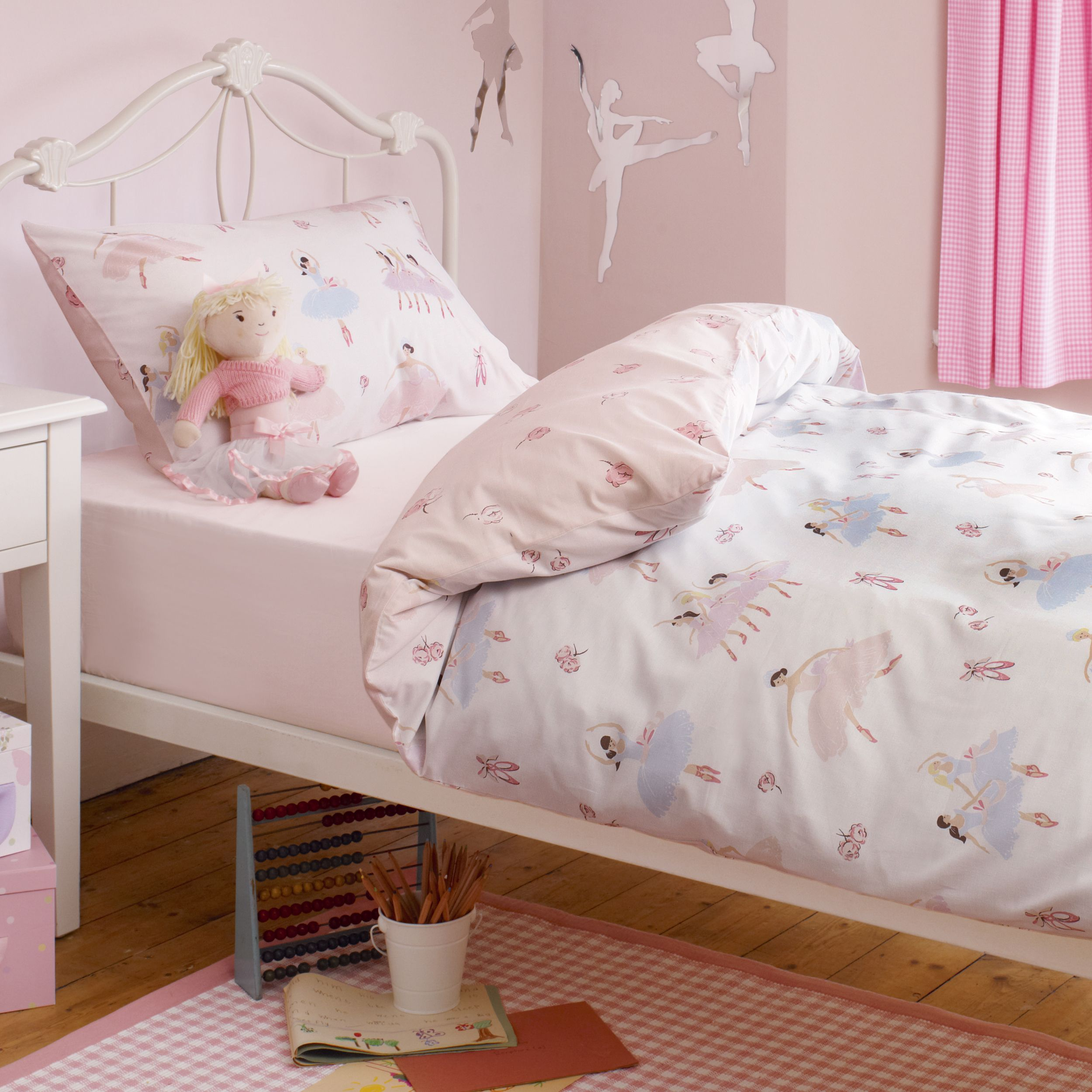 girls tabatha ballerina duvet set laura ashley. Black Bedroom Furniture Sets. Home Design Ideas
