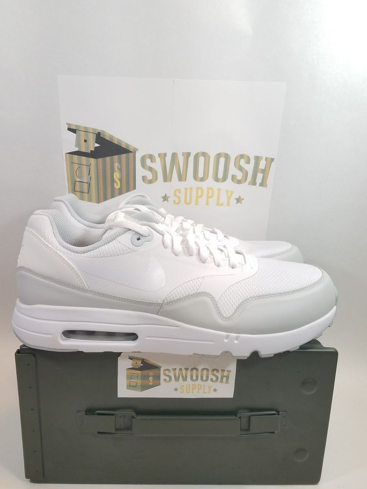 on sale 5cd7d 6019f NIKE AIR MAX 1 ULTRA 2.0 ESSENTIAL 875679-101 WHITE PURE PLATINUM DS SIZE 13   Nike  AthleticSneakers