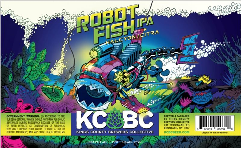 KCBC- Robot Fish Beer ROBOTS  BEERS Pinterest